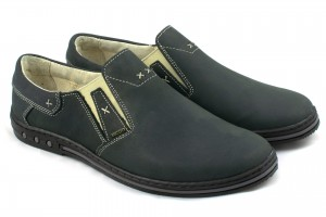 Comfortable shoes for men, wzuwane, natural leather nubuck - gray - Escott