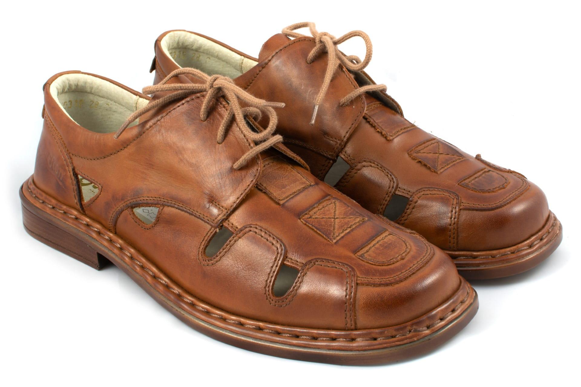 sandały skórzane męskie klasyczne obowie