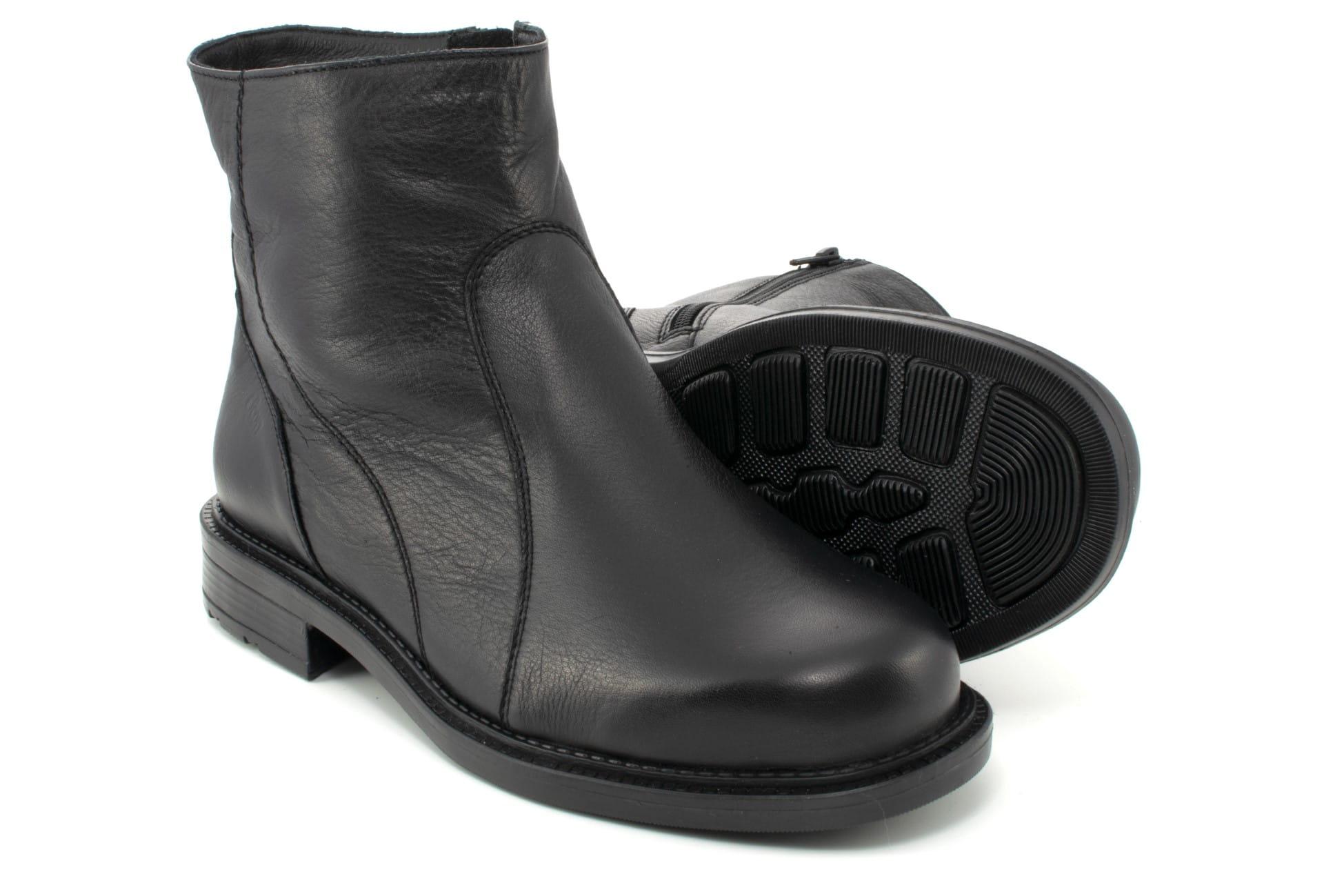 buty męskie skorzane z wysoką cholewką